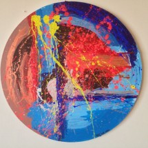 original_circle_painting_copper_neon_abstract